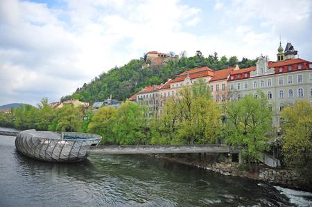 Modern architecture of Graz city center, Austria