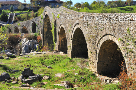 Beauriful roman bridge in Mes town, Albania