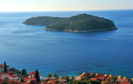 Beautiful island in mediterranean sea, Croatia