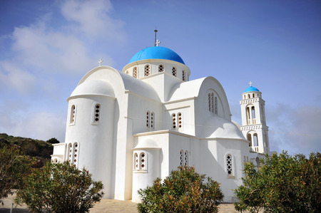 Church of saint Arsenios on Paros island, Cyclades, Greece