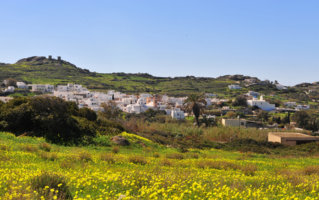Agios Arsenios village on summer, Naxos island, Greece