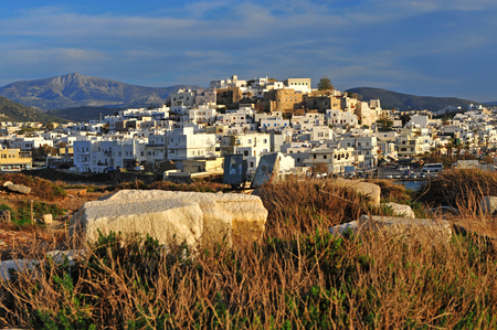 Top view od Chora town, Naxos island, Greece
