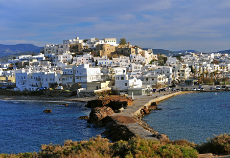 Chora old town on Naxos island, Greece