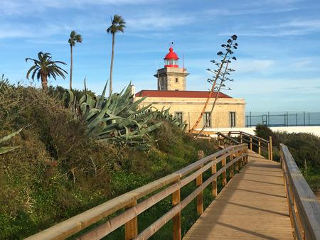 Lighthouse at Ponte de Piedade, Lagos, Algarve, Portugal