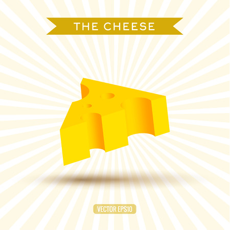 cheez: Delicious bulk cheese on a white background with rays abstract