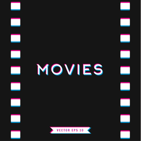motion picture: Motion picture film in 3D Illustration