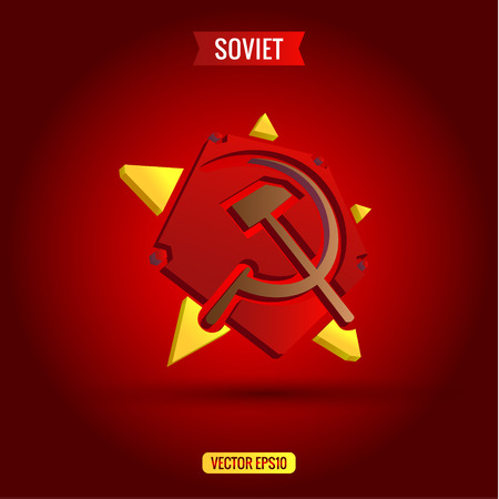hammer and sickle: Soviet star hammer and sickle