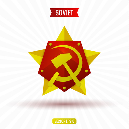 soviet: Soviet star hammer and sickle