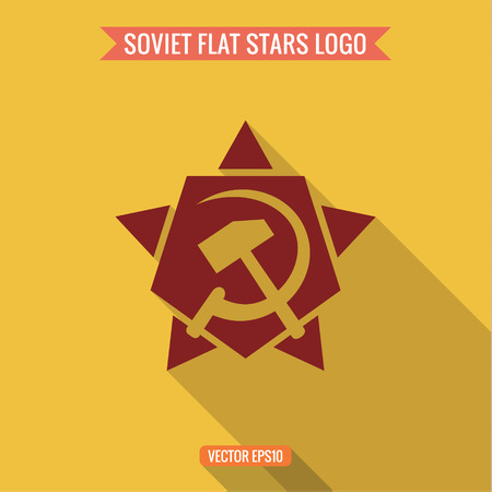 sickle: star, hammer and sickle, flat style  Illustration