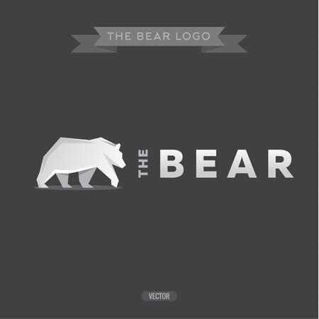 polar bear on the ice: The Bear icon Flat, geometric vector illustrations