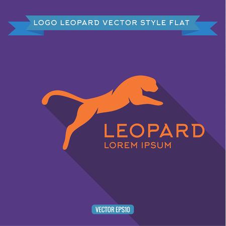 Logo wild felines into flat, icon vector illustrations Illustration