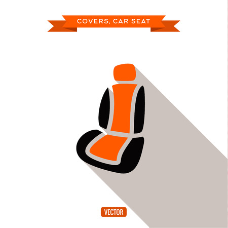 seats: Covers and car seats for the car, vector illustration flats Illustration