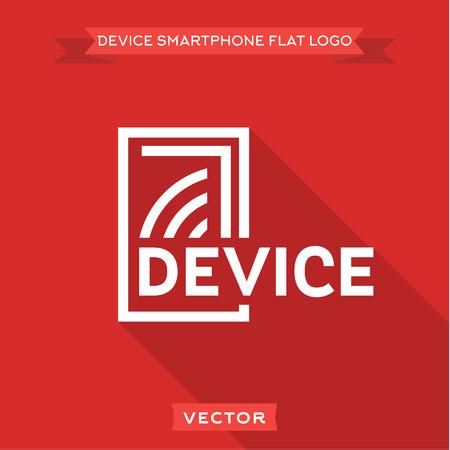 スマート フォン フラット回路デバイスのロゴ アイコンのベクター デザイン