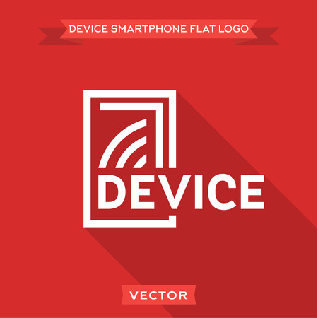 old cell phone: Smartphone flat circuit device logo icon vector designs