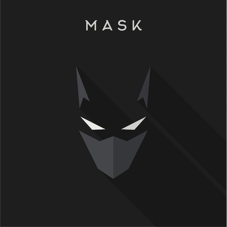 superheroes: Hero, superhero Mask flat style