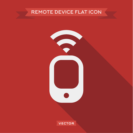 signal device: Remote device that transmits a signal vector design icon  Illustration