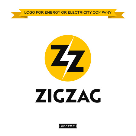 electricity company: Logo for electricity energy company, lightning and two letter Z