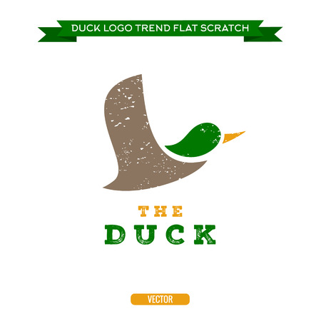wild duck: Duck flying brand logo sign style trends