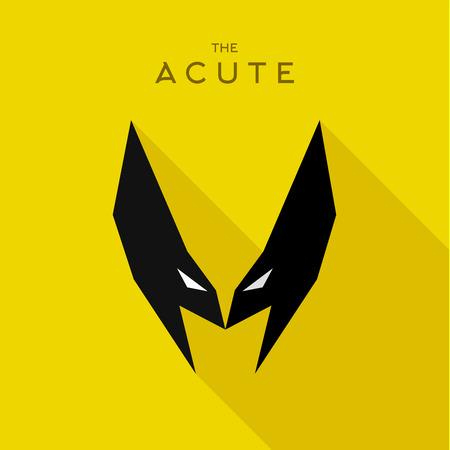 mask: Mask Acute Hero superhero flat style icon vector , illustration, villains Illustration
