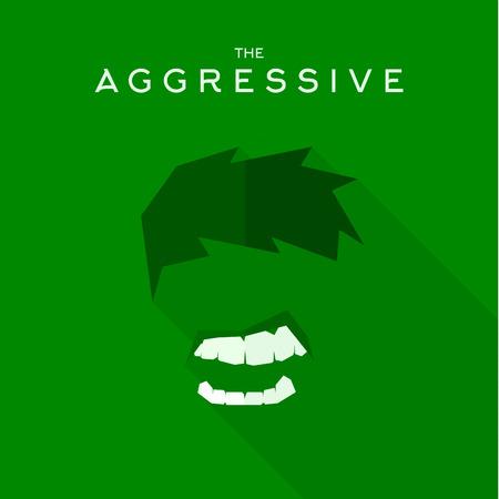 antifaz: M�scara icono agresivo estilo plano villano vector, ejemplos