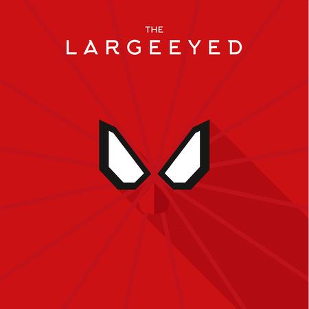 antifaz: M�scara Largeeyed h�roe superh�roe estilo plano del icono del vector, ilustraciones, villano Vectores