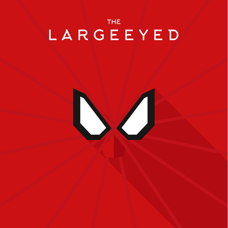 super hero: Mask Largeeyed Hero superhero flat style icon vector , illustrations, villain