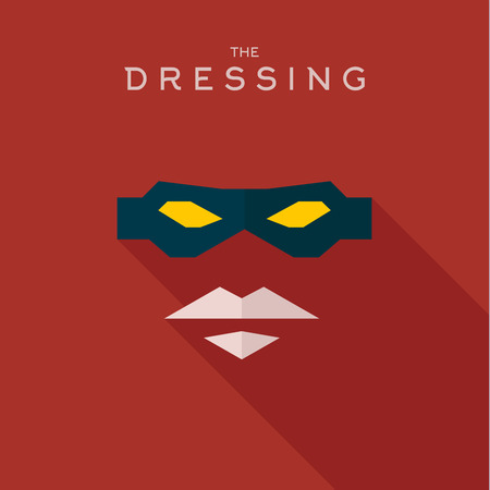 body mask: Mask Dressing Hero superhero flat style icon vector , illustrations, villain