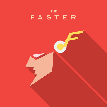 style: Faster Hero superhero Mask flat style icon vector , illustrations