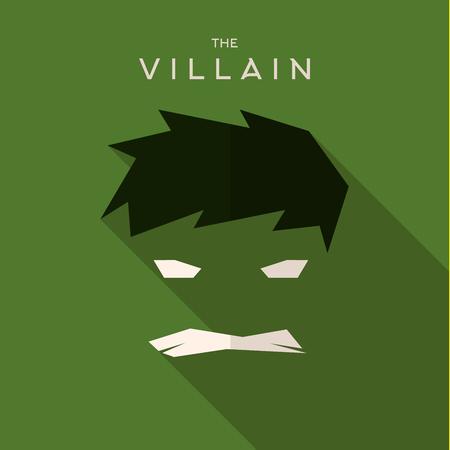 villain: Mask Villain flat style icon vector logo, illustrations