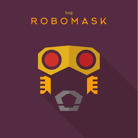 saviour: Mask robomask Hero superhero flat style icon vector logos, illustration, villain