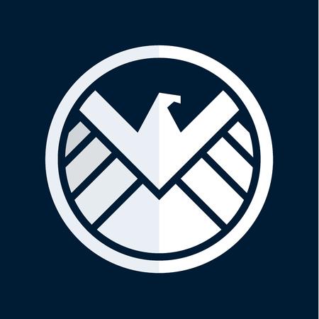 flying eagle: Eagle logo emblem, vector illustration, flat styles Illustration