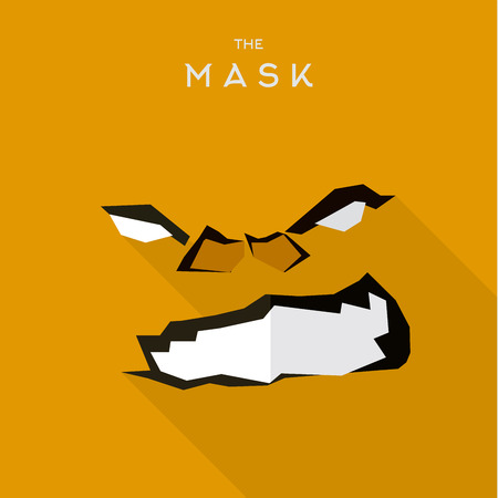super hero: Mask Hero superhero flat style icon vector icon, illustration, villains
