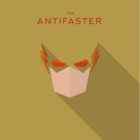 antifaz: M�scara h�roe superh�roe estilo plana icono vector icono, ejemplo, villanos