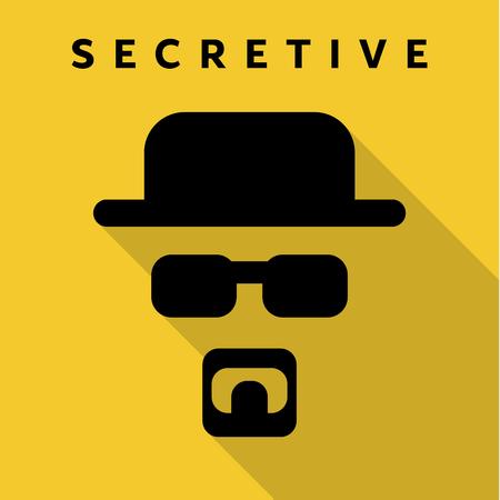 villain: Secretive Mask Hero superhero flat style icon vector icon, illustrations, villain Illustration