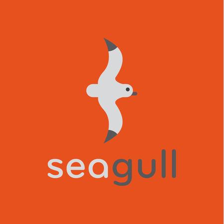 Seagull icoon in modieuze trend vector illustratie flats