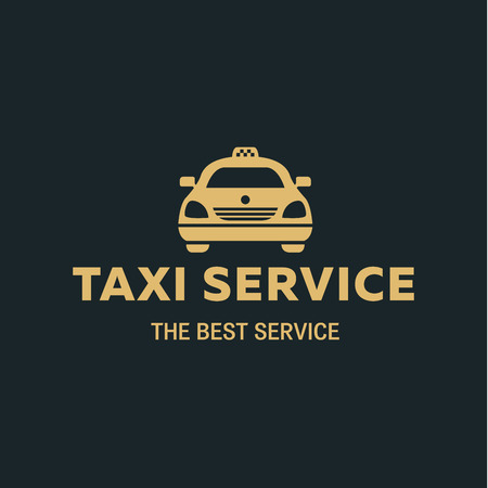 taxi: icon Best Taxi car, flat style icon vector illustrations Illustration
