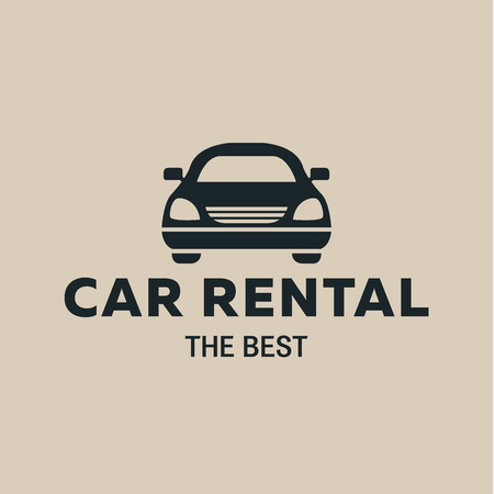 car rent: Best car Rent icon, icon strong vector illustrations