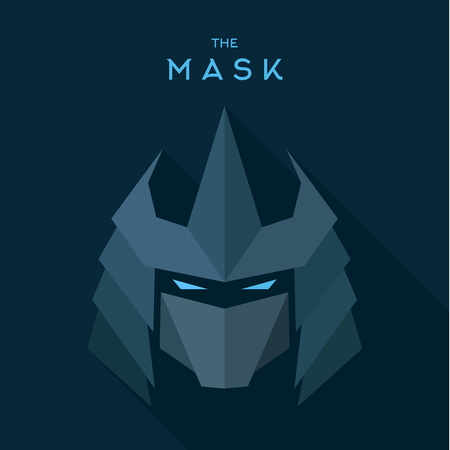 villain: Mask Hero superhero flats style icon vector icon, illustration, villain Illustration