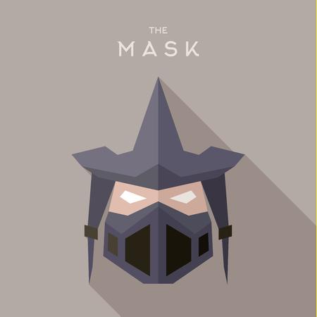villain: Mask Hero superhero flats style icon vector, illustration, villain Illustration