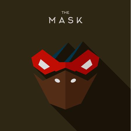 villain: Mask Hero superhero flats style icon vector logo, illustration, villain Illustration