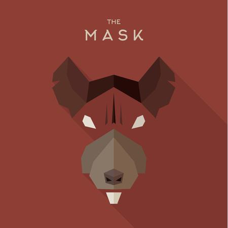 villain: Mask Hero superhero flat style icon vector icon, illustrations, villain Illustration