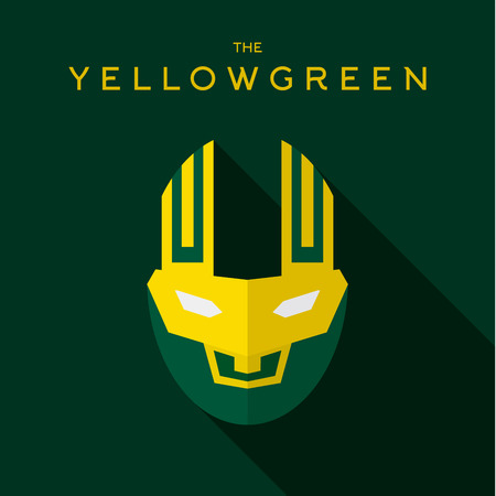 the villain: Mask Hero superhero flat style icon vector logo, illustrations, villain Illustration