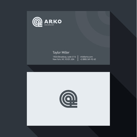 qualitative: Qualitative elegant Business Card vector abstract logos, and professional layout Illustration