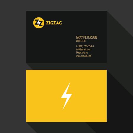 qualitative: Business Card Qualitative elegant vectors logos, and professional layout Illustration