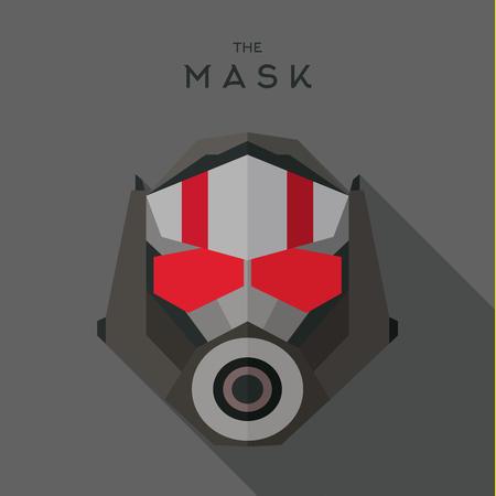 the villain: Mask flat Hero Villain superhero style icon vector logo illustrations Illustration