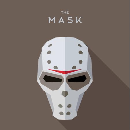 villain: Mask Hero superhero flat style icon vector logos, illustration, villain Illustration