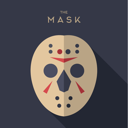 hero: Mask Hero superhero flat style icon vector logos, illustration, villain Illustration