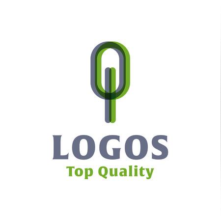 abstract logos: abstract tree flat Logos style vector illustrations