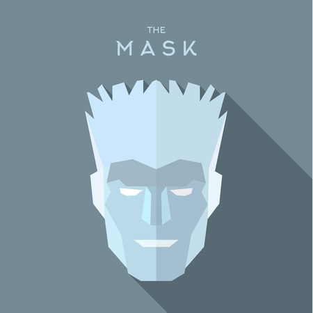 super hero: Mask flat Hero Villain superhero style icon vector   illustrations Illustration
