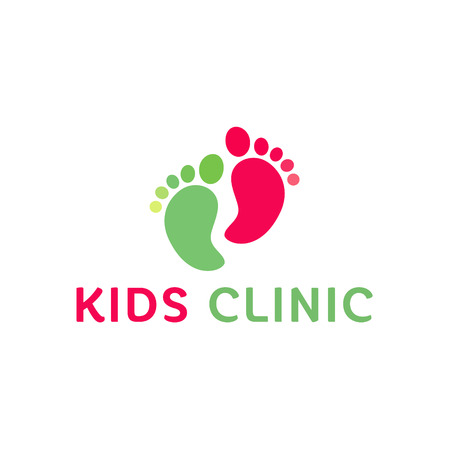 trend:   Childrens health clinic, the childs feet flat trend style vectors